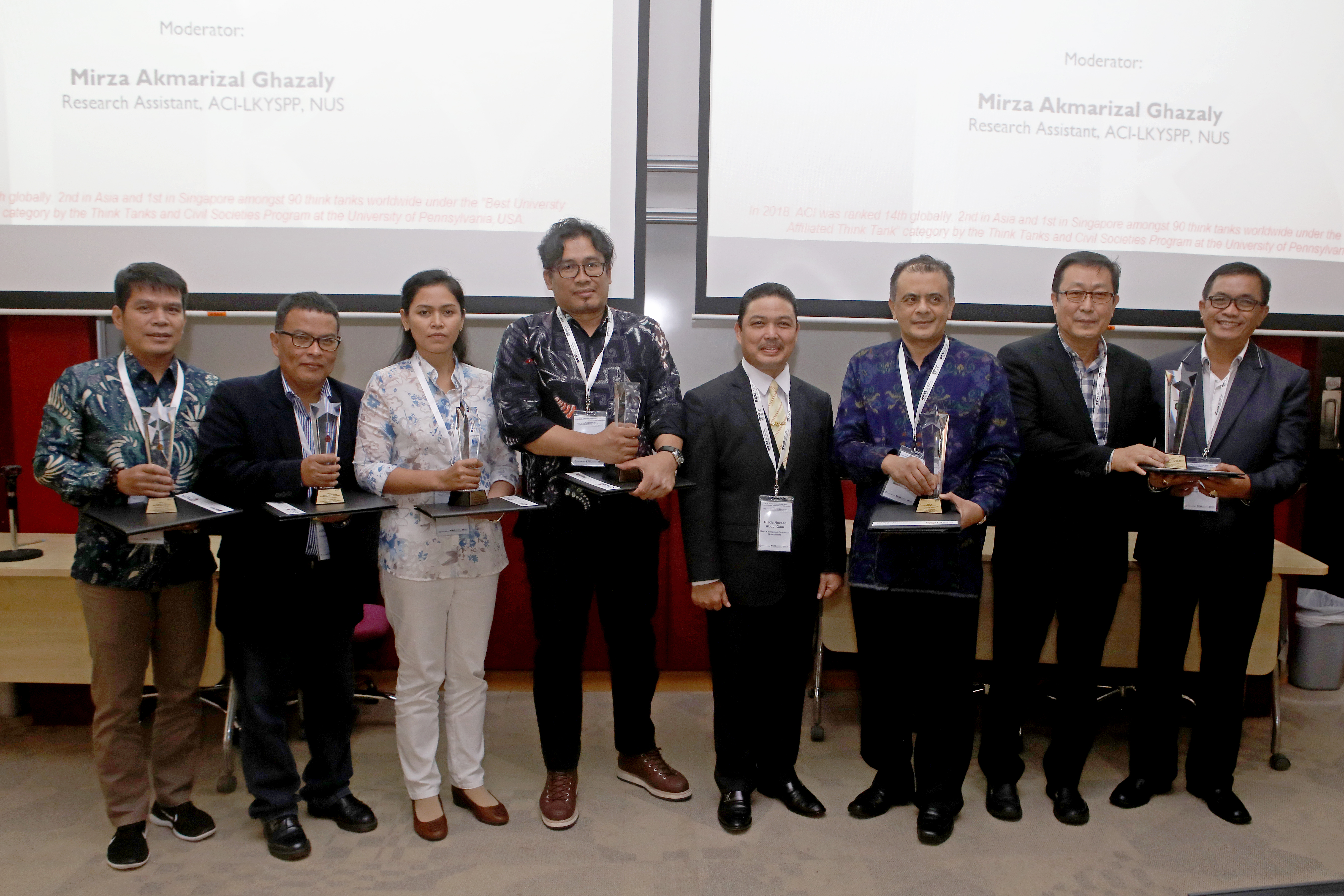 "2018 Paper Awards Presentation Seminar for Six Regions of Indonesia: ""Assessing Contemporaneous Developments In 34 Indonesian Provinces"""