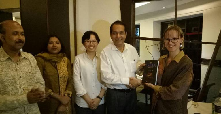 Book presenting at Bangladesh Chapter alumni dinner