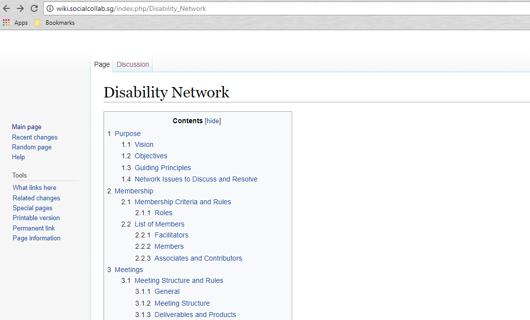Disability Network and Disability Wiki Page